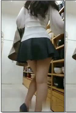 女友塞着跳蛋就去逛大卖场~逛到一半直接把店员打开!!女友竟然